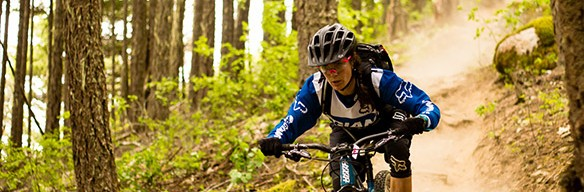 Kelli Emmett racing the Pemberton Enduro