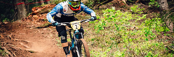 Yoann Barelli on Microclimate trail, Whistler